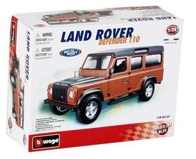 Авто-конструктор Bburago Land Rover Defender 110 (коричневый металлик, 1:32)