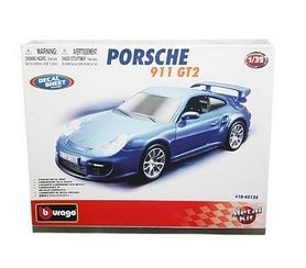 Авто-конструктор Bburago Porsche 911 GT2 (голубой, красный, 1:32)