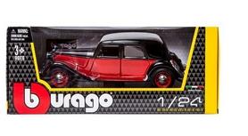 Машина игрушечная Bburago Citroen 15 CV TA (1938) (черный, красно-черный, 1:24)