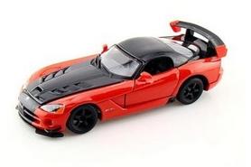 Машина игрушечная Bburago Dodge Viper SRT10 ACR (оранжево-черный металлик, красно-черный металлик, 1:24)