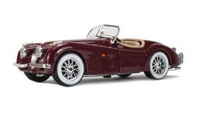 Машина игрушечная Bburago Jaguar XK 120 (1951) (вишневый, серебристый, 1:24)