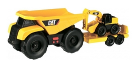 """Минитрейлер Toy State """"Самосвал и прицеп с экскаватором 28 см"""" (34761)"""