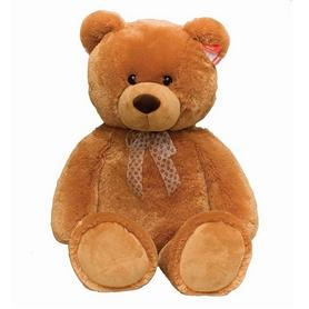 Игрушка мягкая Aurora Медведь сидячий, 54 см коричневый (61671A)