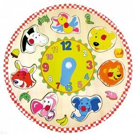 """Часы-пазлы Bino """"Животные"""" 88062"""