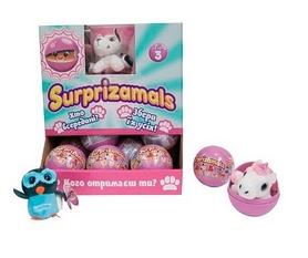 Игрушка мягкая-сюрприз в шаре Surprizamals S3 (12 видов)