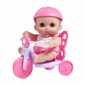 "Пупс John ""Мими на велосипеде"" 22 см"