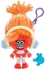 Игрушка мягкая с клипсой Тролли Zuru Trolls DJ Suki 22см оранжевая