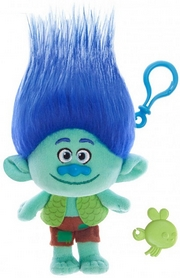 Игрушка мягкая с клипсой Тролли Zuru Trolls True Coloe Branch 22см синяя