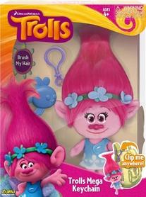 Игрушка мягкая с клипсой Тролли Zuru Trolls Poppy 22см розовая