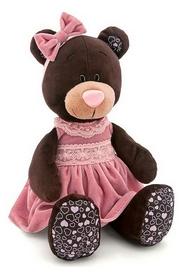 Игрушка мягкая Orange Milk Мишка сидячий в розовом платье, 25 см