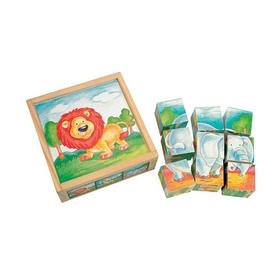 Кубики Bino с изображением диких животных