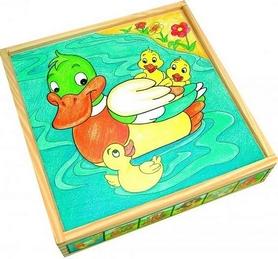Кубики Bino с изображением животных