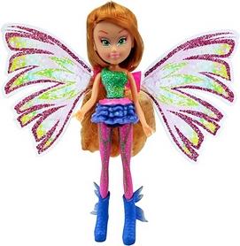 Кукла Winx Sirenix Mini Флора 12 см розовая