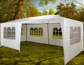 Палатка садовая (павильон) 3х6 м белая