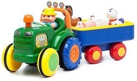 Игрушка на колесах Kiddieland Трактор с трейлером (украинская озвучка)
