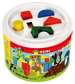 "Кубики деревянные в ведре Bino ""Кротик"" 13734"