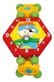 """Часы-пазлы Bino """"Пират"""" 9086039 красные"""