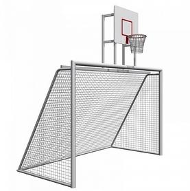 Ворота футбольные сборные с баскетбольным щитом SS00359