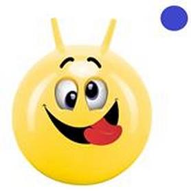 Мяч-прыгун с рожками John Смайлик веселье 50 см синий