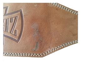Фото 2 к товару Пояс тяжелоатлетический кожаный ZEL ZB-01016-6 - L - Уцененный*