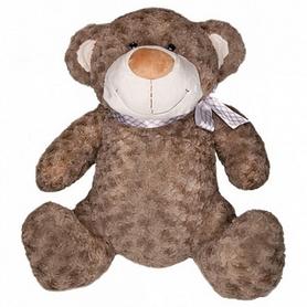 """Игрушка мягкая Grand """"Медведь"""" с бантом, коричневый, 25 см"""