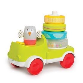 Машинка с пирамидкой развивающая Taf Toys Совушка-малышка: Два в одном