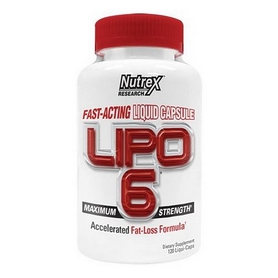 Жиросжигатель Nutrex Lipo-6 Liqui-caps Maximum Strength (120 капсул)