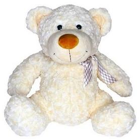Игрушка мягкая Grand Медведь с бантом 25 см белый