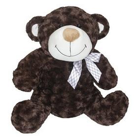 """Игрушка мягкая Grand """"Медведь"""" с бантом 33 см коричневый"""