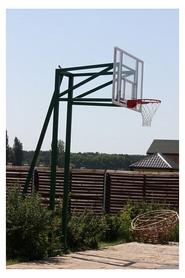 Стойка баскетбольная стационарная (уличная), три опоры вынос до 1250 мм, SS004374
