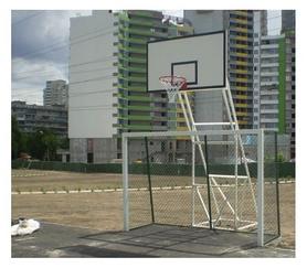 Стойка баскетбольная стационарная (уличная), четыри опоры вынос до 1250 мм, SS00075