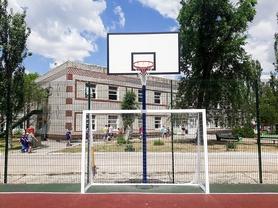 Стойка баскетбольная стационарная (уличная), одна опора вынос до 1200 мм, SS00433