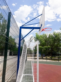 Фото 2 к товару Стойка баскетбольная стационарная (уличная), одна опора вынос до 1200 мм, SS00433