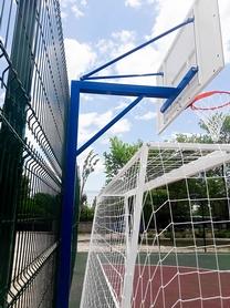 Фото 3 к товару Стойка баскетбольная стационарная (уличная), одна опора вынос до 1200 мм, SS00433