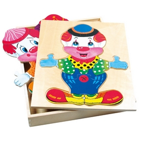 Игра настольная Bino Шкаф для одежды Клоун