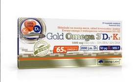 Витамины Olimp Labs Gold Omega-3 D3+K2 (30 капсул)