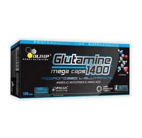 Глютамин Olimp Labs L-glutamine Mega Caps 1400 (120 капсул)