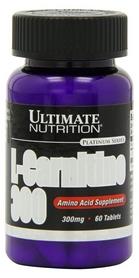 Жиросжигатель Ultimate nutrition Liquid L-carnitine 300 Mg (60 таблеток)