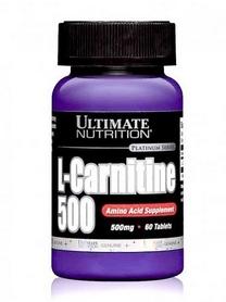 Жиросжигатель Ultimate nutrition L-carnitine 500 Mg (60 таблеток)