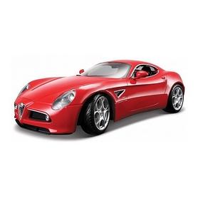 Машинка игрушечная Bburago Alfa Romeo 8C Competizione (2007) (1:32) красный металлик