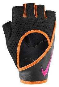 Перчатки для фитнеса женские Nike Womens Perf Wrap Training Gloves черные с оранжевым