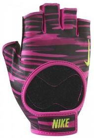 Перчатки для фитнеса женские Nike Womens Fit Training Gloves малиновые с черным