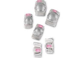 Фото 3 к товару Коньки роликовые раздвижные детские Fila 2015 J-one Combo 3 Set blk/slv/pk 010615155 розовые