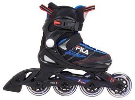 Коньки роликовые раздвижные детские Fila 15 J-one Combo 2 Set blk/blue/red/f15 10615160 синие