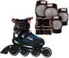Коньки роликовые раздвижные детские Fila 15 J-one Combo 2 Set blk/blue/red/f15 10615160 синие - фото 2