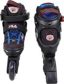 Фото 3 к товару Коньки роликовые раздвижные детские Fila 15 J-one Combo 2 Set blk/blue/red/f15 10615160 синие