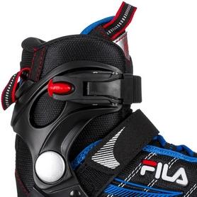 Фото 4 к товару Коньки роликовые раздвижные детские Fila 15 J-one Combo 2 Set blk/blue/red/f15 10615160 синие