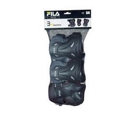 Защита для катания (комплект) Fila 17 Adult FP Gears blk/lm 60750868 черная
