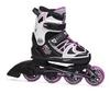 Коньки роликовые раздвижные Fila 16 X-one G black/white/pink 010616145 розовые - фото 1