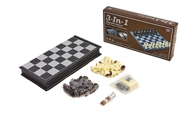 Набор настольных игр 3 в 1 (шахматы, шашки, нарды) Duke G-38810